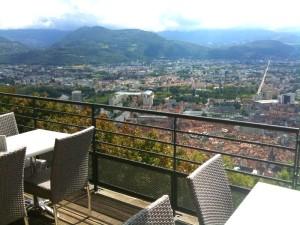 View from Restaurant de la Teleferique, Grenoble